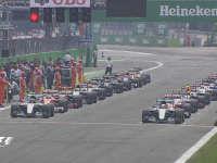 F1意大利站正赛发车多角度回放:汉密尔顿的迷之起步