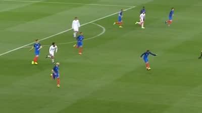 太快!法国极速反击瞬间起速 3人突击吓坏德赫亚