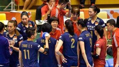 中国女排0-3不敌美国 世界杯首遭败绩
