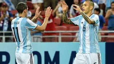 比赛报告-五人齐获处子球 阿根廷6-0屠杀新加坡