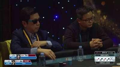 德州扑克-李开复牌力落后 依然凭牌技取胜