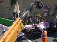 佩雷兹8号弯发生惨烈事故 轮胎脱落现场闪起红旗