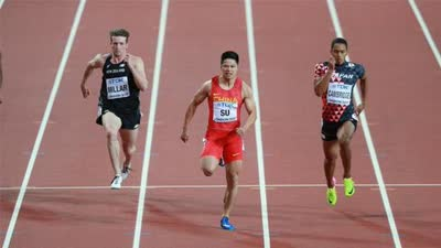 苏炳添百米预赛10秒03 列小组第一晋级半决赛