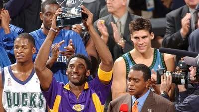 历史上的2月10日:科比费城捧全明星MVP奖杯