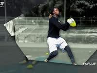 橄榄球身体训练课 跑M线路制造接球空间