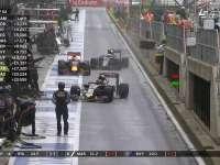 F1英国站正赛:里卡多抢先进站换上半雨胎
