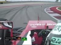 F1美国站正赛:维特尔高速弯险失误