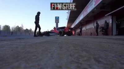 F1紧锣密鼓试新车 橙军跑圈有点儿骚