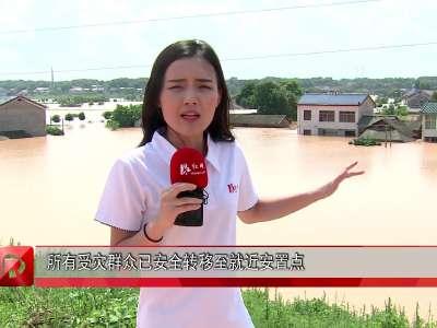 红视频现场直击:长沙望城团山湖村抢险工作