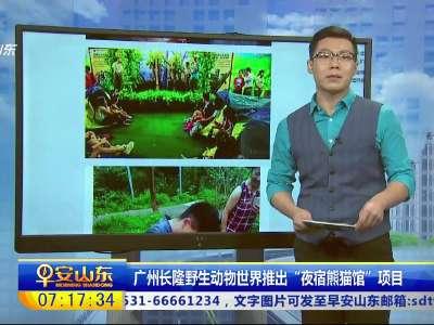 """[视频]广州长隆野生动物世界推出""""夜宿熊猫馆""""项目"""