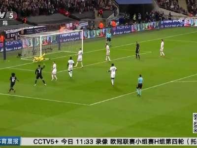 [视频]欧冠:热刺主场击败皇马 小组提前出线