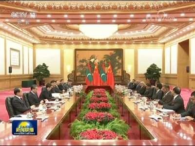 """[视频]习近平同马尔代夫总统举行会谈 两国元首一致同意 共同推进""""一带一路""""建设 为双边关系发展注入新动力"""
