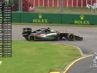 爱上转圈圈?F1澳大利亚三练佩雷兹打滑掉头