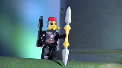 《铠甲勇士酷垒积木大作战2》之机甲帝狮将炮轰毒蝎王