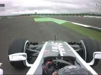 F1英国站FP1 哈斯小将勒克莱尔冲出赛道