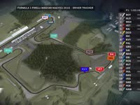 F1匈牙利站FP1全场回顾(GPS追踪)