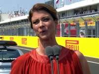 F1匈牙利站正赛赛前唱国歌仪式