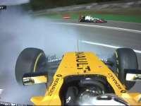 F1比利时站正赛 马格努森失控大撞车车载回放
