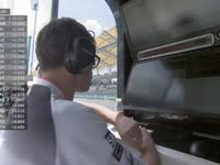 F1马来西亚站FP1 莱科宁1号弯刹车晚啦