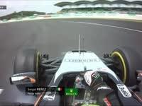 F1马来西亚站FP3:佩雷兹最后一弯失误轮胎锁死