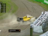 F1日本站FP2:马格努森冲出墙边绕一圈