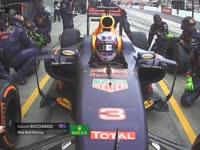 慢的一比!F1日本站正赛:里卡多换胎失误