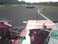 蓝旗啊!F1日本站正赛 维特尔抱怨慢车怒挥小手