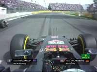 F1墨西哥站正赛:里卡多成功超越霍肯伯格