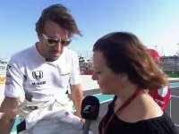 F1阿布扎比站赛前车手巡游 阿隆索英国纹身告别巴顿