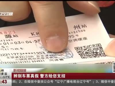 [视频]辨别车票真假 警方给您支招