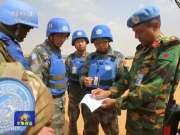 马里袭击事件后 中国维和工兵全力重建防御设施