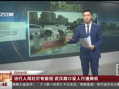 [视频]治行人闯红灯有新招 武汉路口设人行道闸机