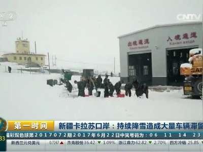 [视频]新疆六月飞雪秒变冬天