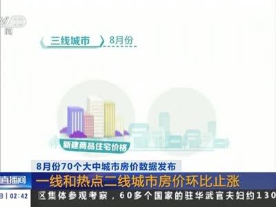 [视频]8月份70个大中城市房价数据发布:一线和热点二线城市房价环比止涨