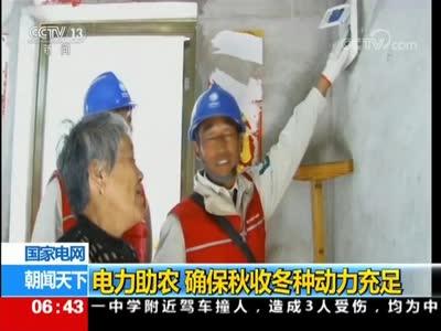 [视频]电力助农 确保秋收冬种动力充足