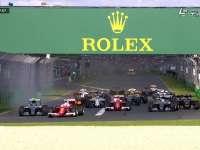 F1澳大利亚站正赛发车 法拉利双雄秒杀梅奔