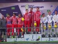 WEC斯帕站:LMP1私人组颁奖 睿柏琳13号冠军