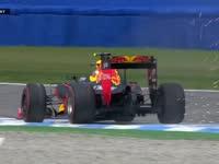 F1德国站排位赛Q3:维斯塔潘骑上路肩火星四溅