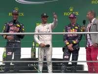 F1德国站汉密尔顿颁奖台谈起跑:赛车平衡格外好