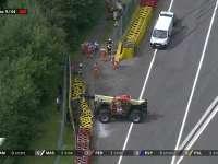 轮胎墙要大修!F1比利时站正赛 赛会打出红旗去修墙