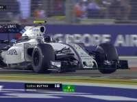 F1新加坡站排位赛Q1:博塔斯路肩起飞慢镜回放
