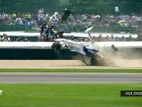 F1美国站经典(9) 迈凯伦队友追尾引连环撞车