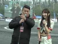 漂移赛车MC捕捉一肤白貌美日本车模 会说中文声音甜甜
