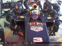 F1阿布扎比站正赛 里卡多二停换软胎