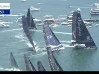 百舸争流场面壮观 悉尼霍巴特帆船赛正式起航