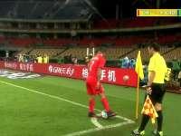 【片段】智利开出任意球 玛丽安禁区内头球攻门