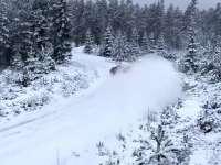 WRC瑞典站赛前试车 克里斯米克测试雪铁龙C3