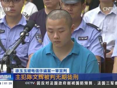 [视频]徐玉玉被电信诈骗案一审宣判:主犯陈文辉被判无期徒刑