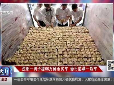 [视频]沈阳一男子提66万硬币买车 硬币装满一货车