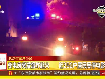 变电房突发爆炸起火 近250户居民受停电影响
